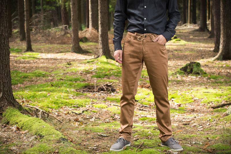 Pattern – pánské kalhoty, světle hnědé | Pánské oblečení