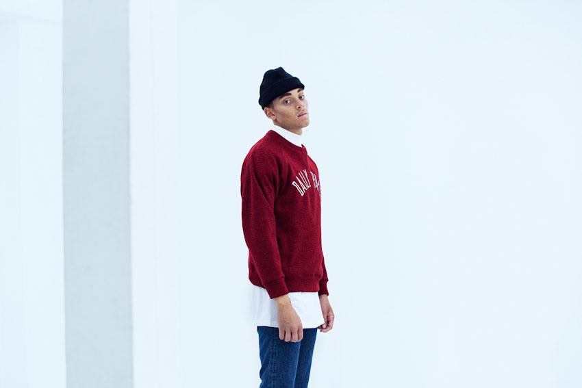 Daily Paper – červená mikina, pánská | Pánské podzimní a zimní oblečení