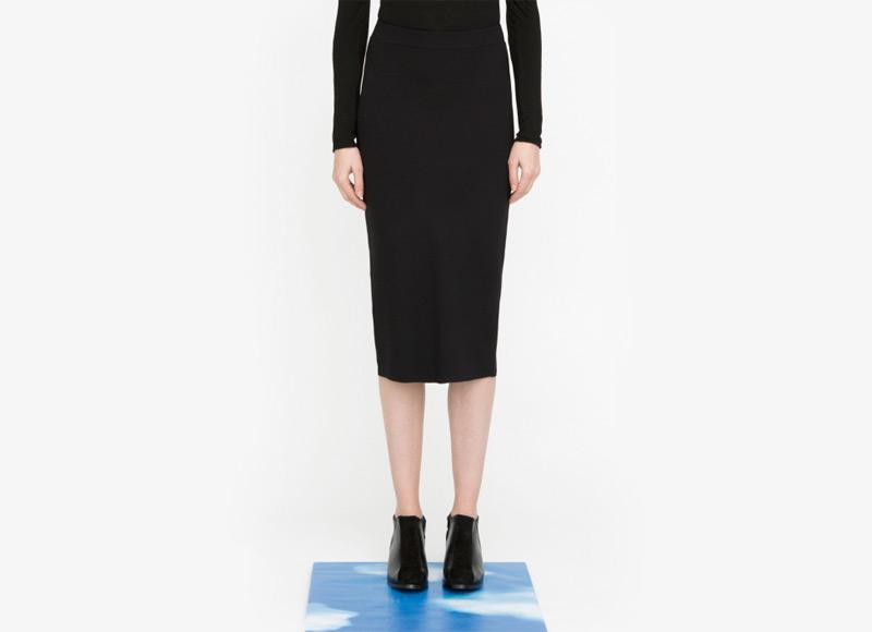 Frisur – sukně pod kolena, dámská, černá | Podzimní a zimní oblečení – dámské