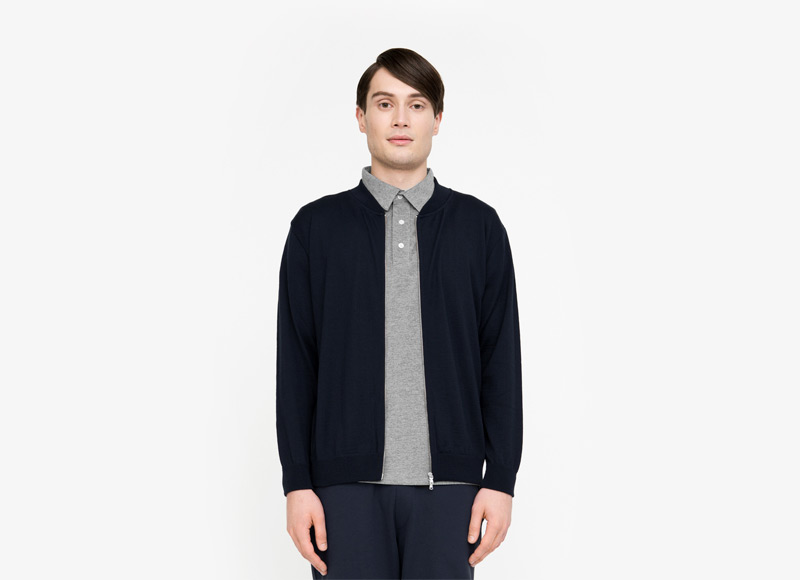 Frisur – pánská bunda do pasu, bomber, jacket, tmavě modrá | Podzimní a zimní oblečení – pánské