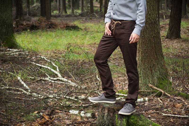 Pattern – pánské kalhoty, tmavě hnědé | Pánské oblečení
