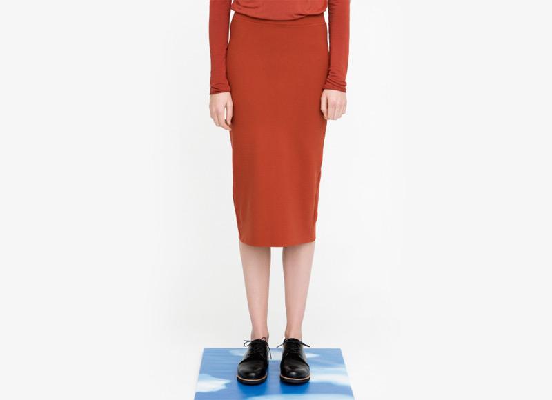 Frisur – sukně pod kolena, dámská, červená | Podzimní a zimní oblečení – dámské