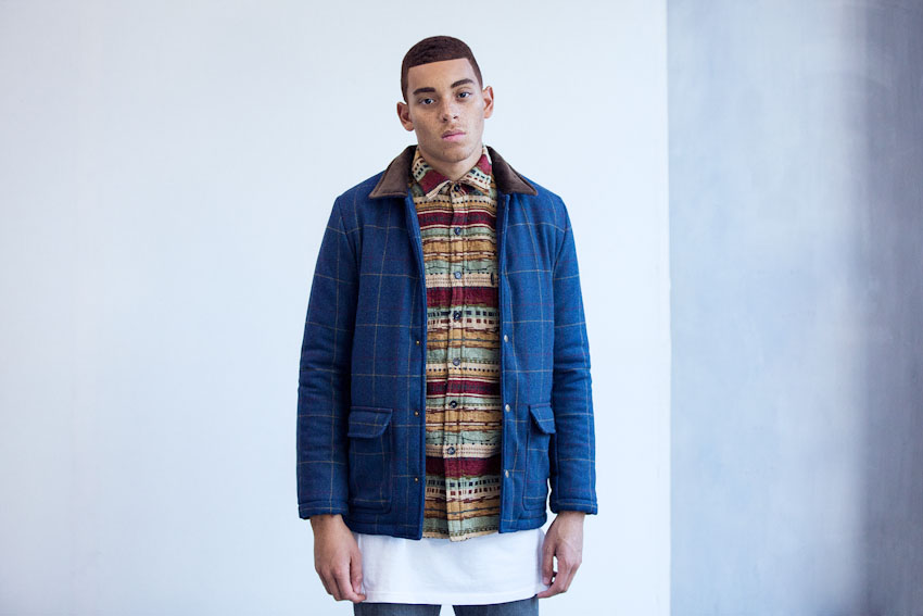 Daily Paper – modrá pánská podzimní a zimní bunda | Pánské podzimní a zimní oblečení