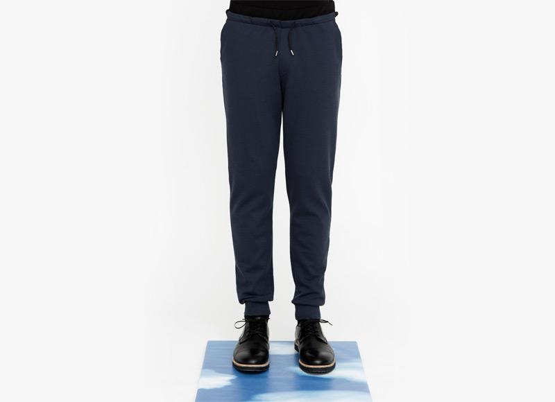 Frisur – pánské bavlněné kalhoty s úplety, tmavě modré | Podzimní a zimní oblečení – pánské