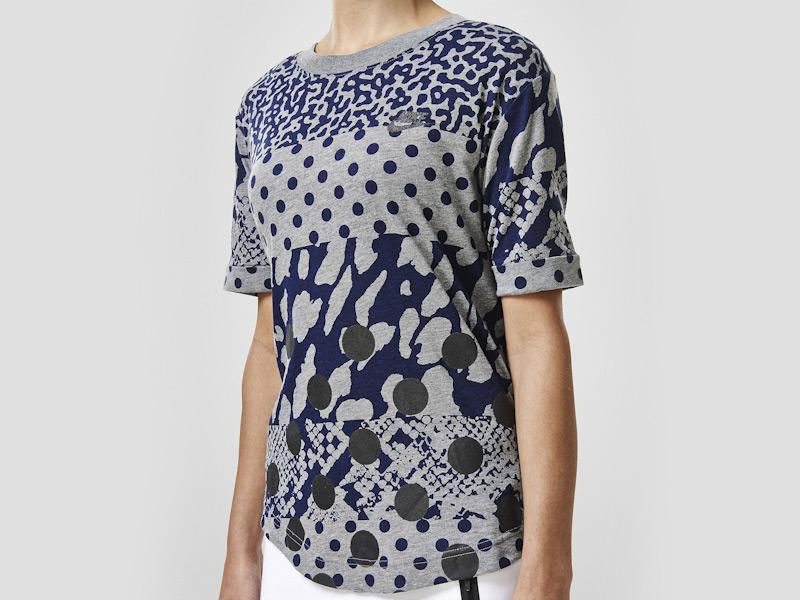 Nike – sportovní triko, šedé, černé vzory, reflexní prvky, tričko | Color Block