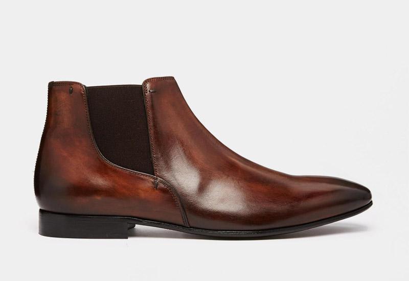 Boty perka – Chelsea Boots – pánské, kožené, – hnědé, tmavé | Kotníkové boty – pánské