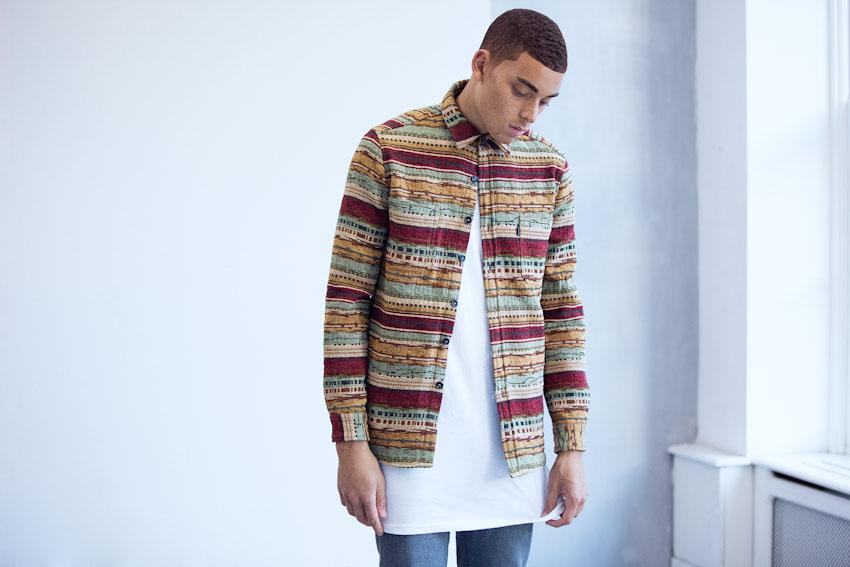 Daily Paper – silná podzimní/zimní košile s dlouhým rukávem, pánská | Pánské podzimní a zimní oblečení