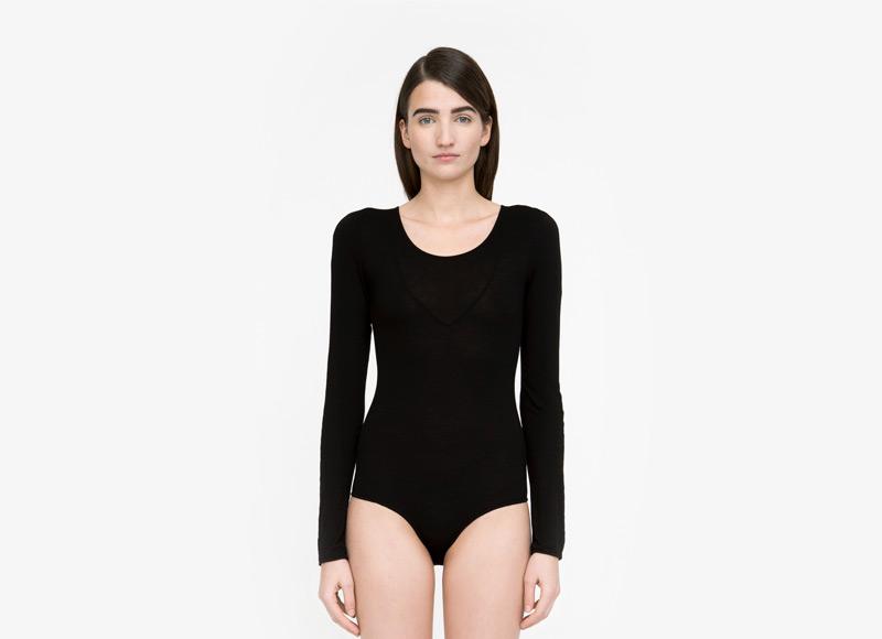 Frisur – uplé dámské body, černé, dlouhý rukáv | Podzimní a zimní oblečení – dámské