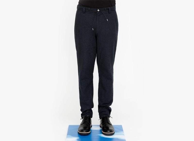 Frisur – pánské tmavě modré bavlněné kalhoty | Podzimní a zimní oblečení – pánské