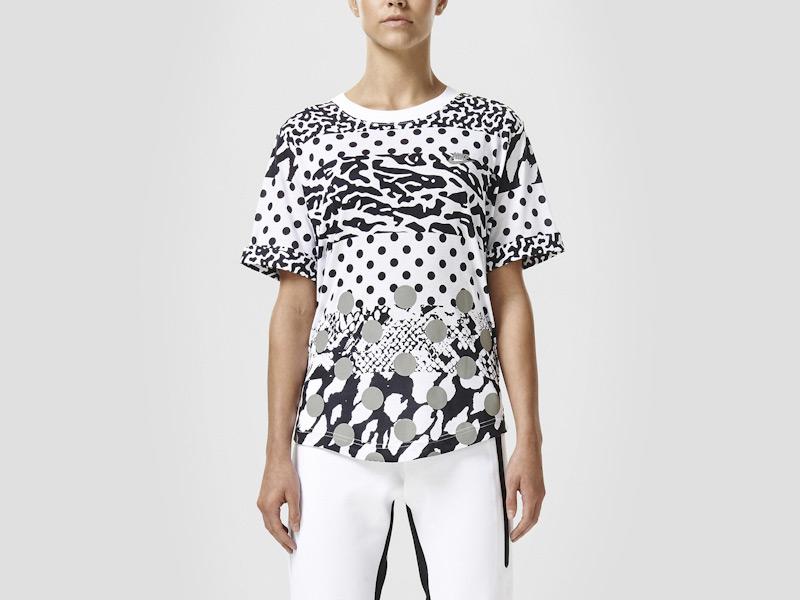 Nike – dámské tričko se vzory, triko, bílé, sportovní, reflexní prvky | Color Block