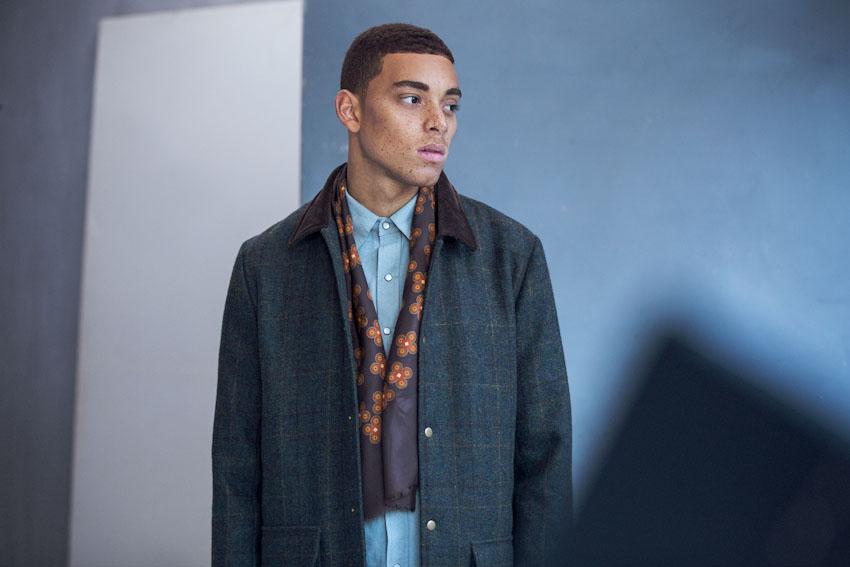 Daily Paper – pánský tmavě zelený kabát, podzimní/zimní | Pánské podzimní a zimní oblečení