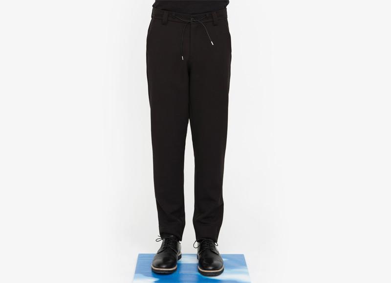 Frisur – pánské kalhoty, bavlněné, černé | Podzimní a zimní oblečení – pánské
