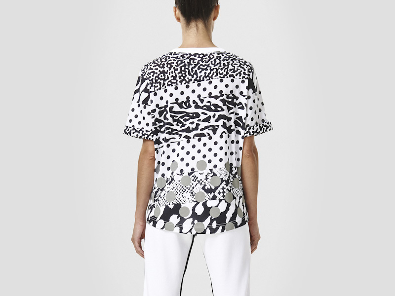 Nike – bílé dámské tričko, triko, reflexní prvky, sportovní, vzory | Color Block