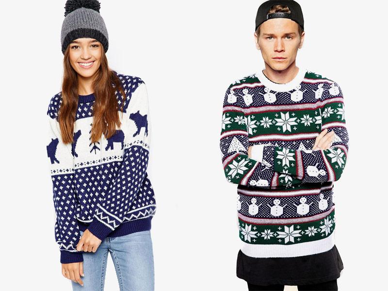 Vánoční svetry – dámské a pánské
