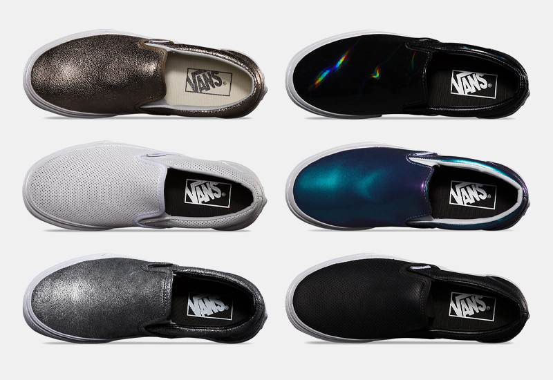 Vans classic Slip On – dámské a pánské boty, tenisky, stříbrné, metalické tenisky, sneakers bez tkaniček