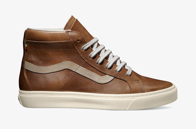 Kotníkové boty Vans x Diemme – Montebelluna Hi LX, luxusní, kožené, hnědé, černé, pánské, dámské, Sk8-Hi | Sneakers, pánské, dámské
