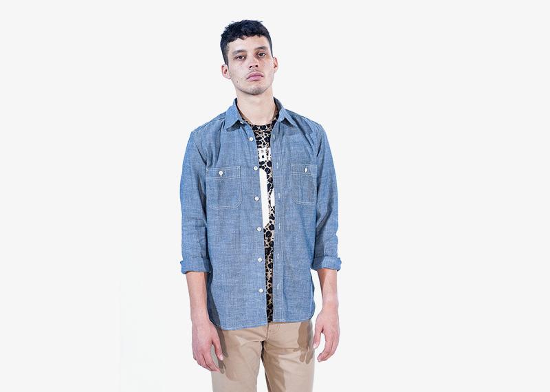 Carhartt WIP – pánská košile s dlouhým rukávem, modrá | Pánské značkové podzimní/zimní oblečení