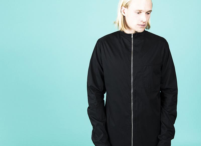 RVLT (Revolution) – pánská černá bunda na zip, podzimní | Pánské značkové oblečení, móda