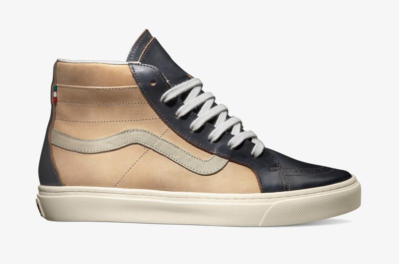 Kotníkové boty Vans x Diemme – Montebelluna Hi LX, tmavě hnědé, luxusní, kožené, pánské, dámské, Sk8-Hi | Sneakers, pánské, dámské