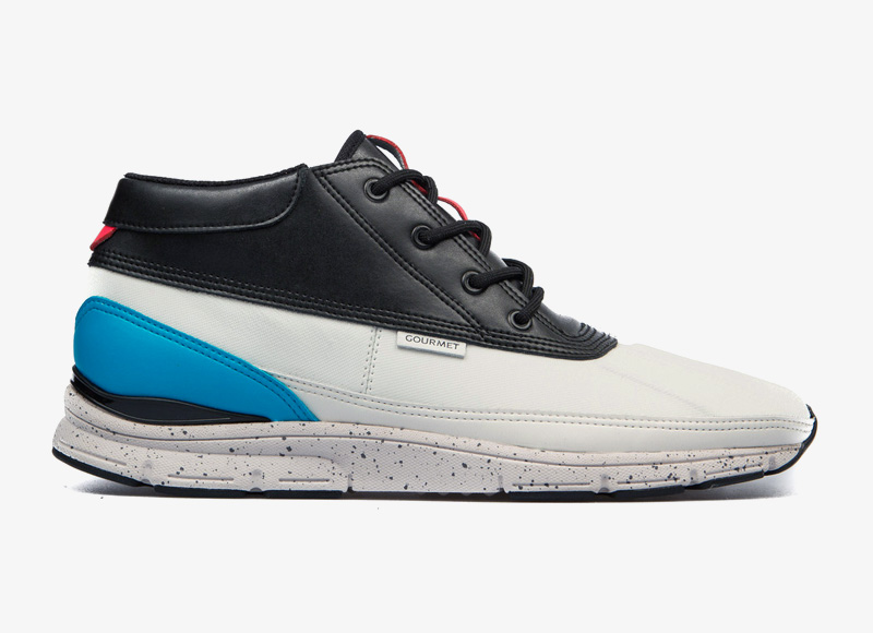 Black Scale x Gourmet – kotníkové boty, tenisky, sneakers, bílo-černé, luxusní boty