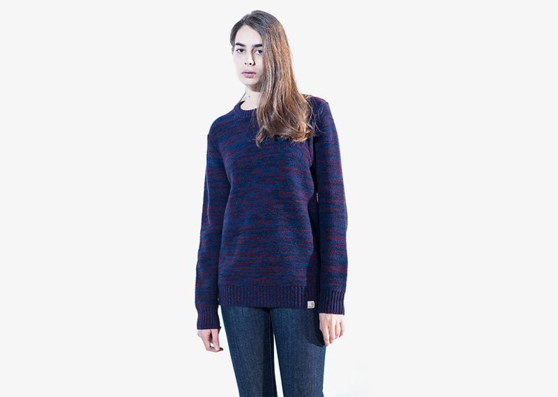 Carhartt WIP – damký svetr modrý | Dámské značkové podzimní/zimní oblečení