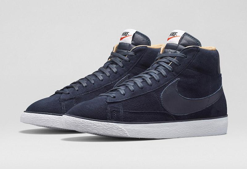 Nike Blazer Mid – kotníkové zimní boty, modré, semišové | Pánské a dámské zimní boty