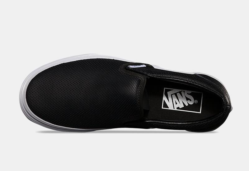 Boty Vans classic Slip On – černé, dámské, pánské, perforované tenisky bez tkaniček, sneakers