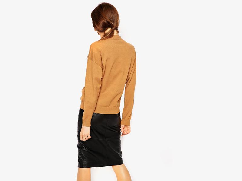 Dámské svetry roláky a pulovry – dámský rolák Asos, svetr, pulovr, hnědý, pískový