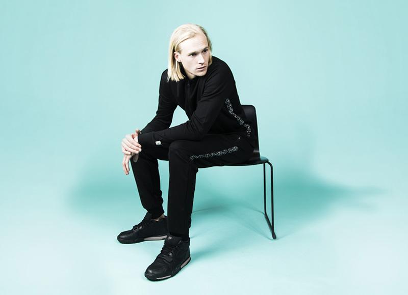RVLT (Revolution) – černé pánské kalhoty, černé tričko – dlouhý rukáv | Pánské značkové oblečení, móda