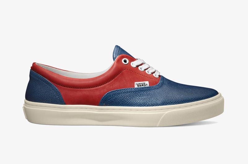 Nízké botyVans x Diemme – Montebelluna Era LX, luxusní, kožené, modro-červené, pánské, dámské, Sk8-Hi | Sneakers, pánské, dámské