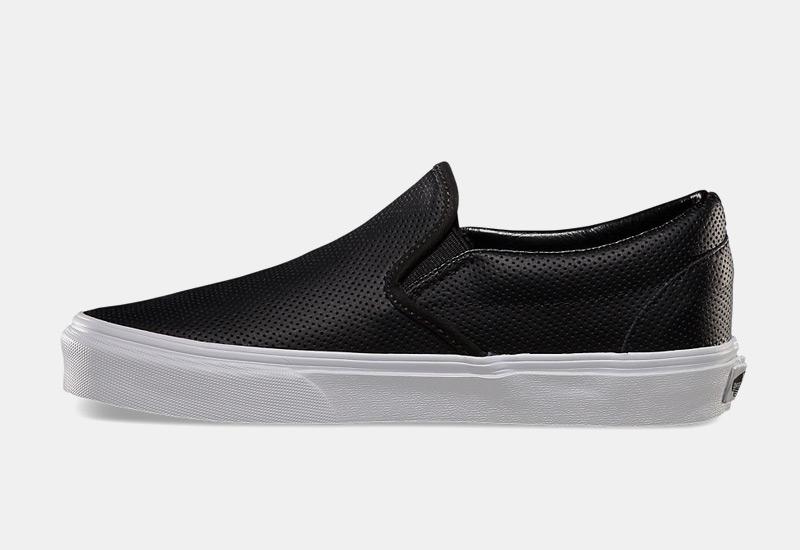Boty Vans classic Slip On – perforované tenisky bez tkaniček, sneakers, dámské, pánské, černé