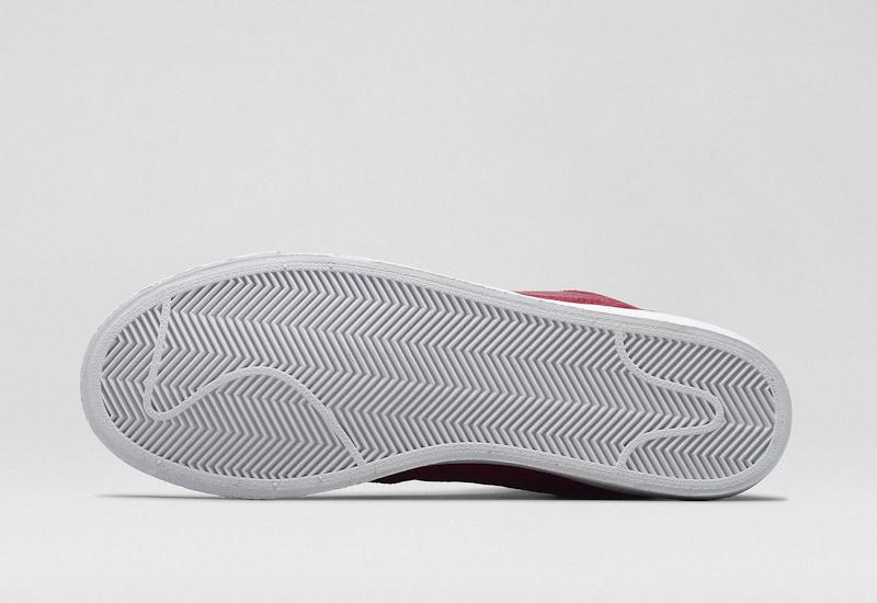 Nike Blazer Mid – kotníkové zimní boty, červené, semišové | Pánské a dámské zimní boty