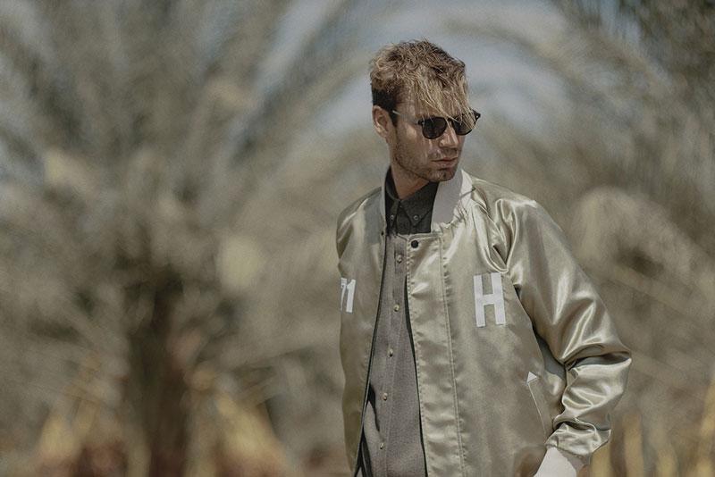 Hotel 1171 – bomber jacket, pánská bunda, lesklá, zlatá | Pánské značkové oblečení
