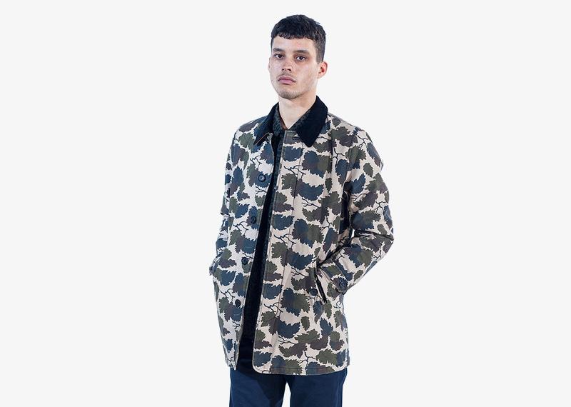 Carhartt WIP – pánská podzimní bunda bez kapuce, motivy listí | Pánské značkové podzimní/zimní oblečení