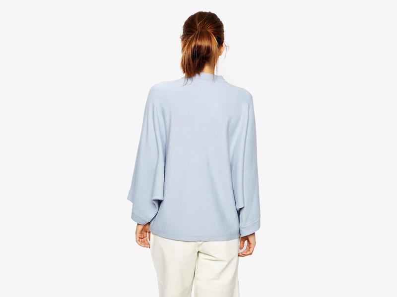 Dámské svetry roláky a pulovry – dámský rolák Asos, svetr, pulovr, světle modrý, bledě modrý