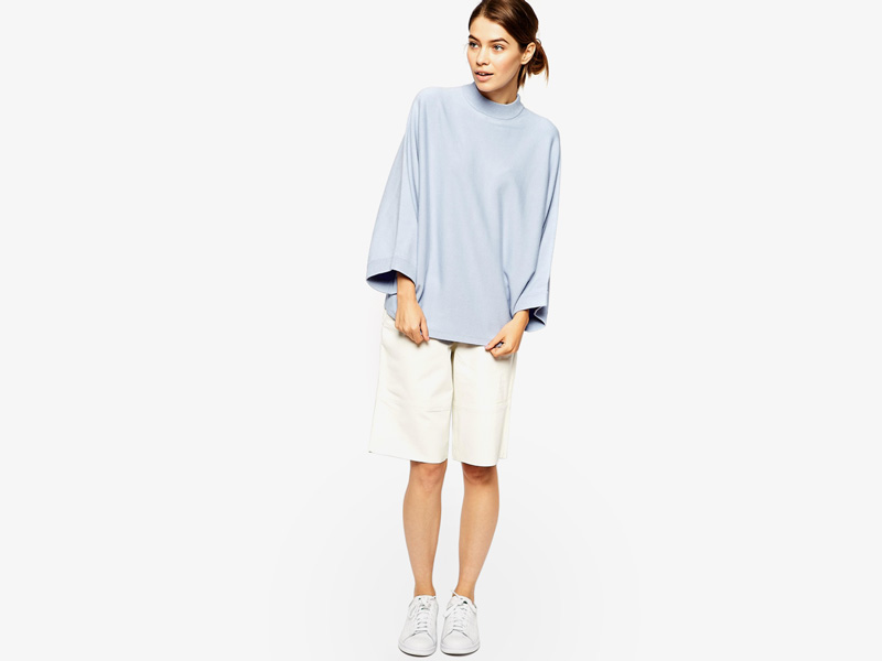 Dámské svetry roláky a pulovry – dámský pulovr Asos, rolák, svetr, světle modrý, bledě modrý