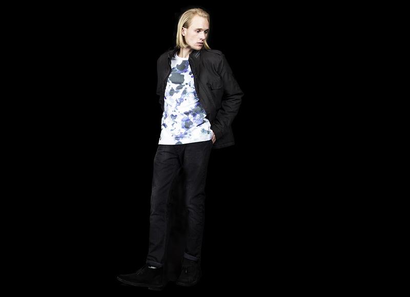 RVLT (Revolution) – černá podzimní bunda be zkapuce, pánské džíny (jeansy) | Pánské značkové oblečení, móda