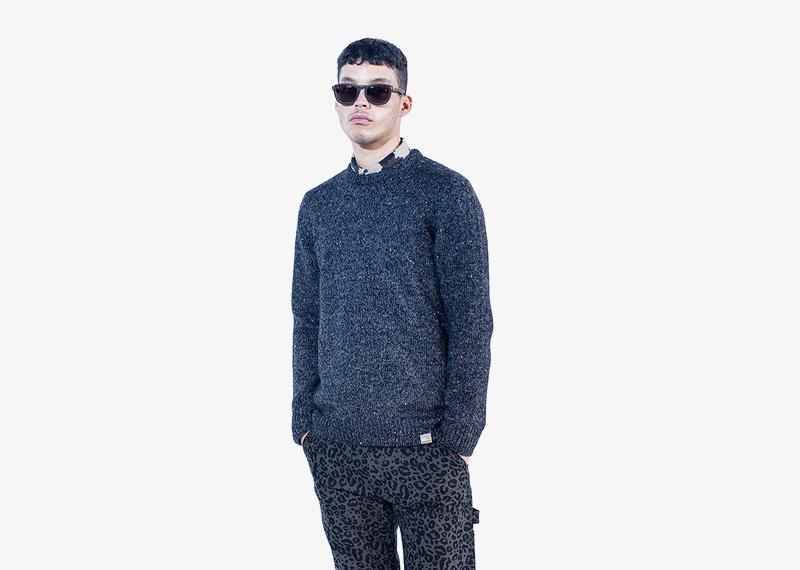 Carhartt WIP – pánský tmavě modrý svetr | Pánské značkové podzimní/zimní oblečení