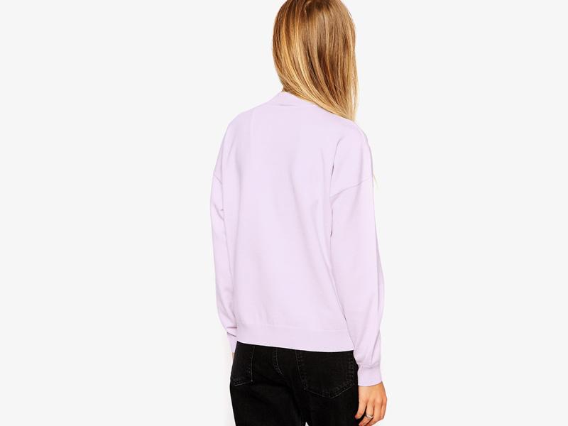 Dámské svetry roláky a pulovry – dámský rolák Asos, svetr, pulovr, světle růžový, bledě růžový