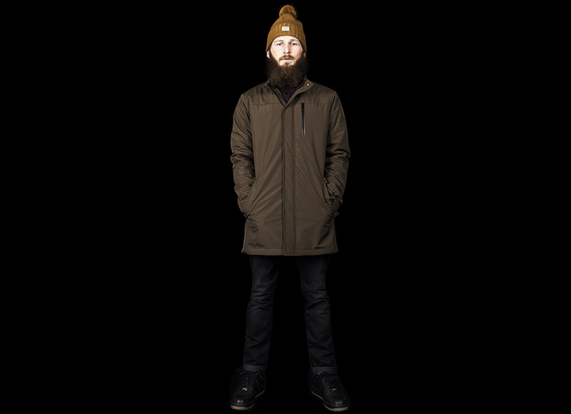 RVLT (Revolution) – pánská zimní bunda se stojáčkem, bez kapuce, hnědá | Pánské značkové oblečení, móda