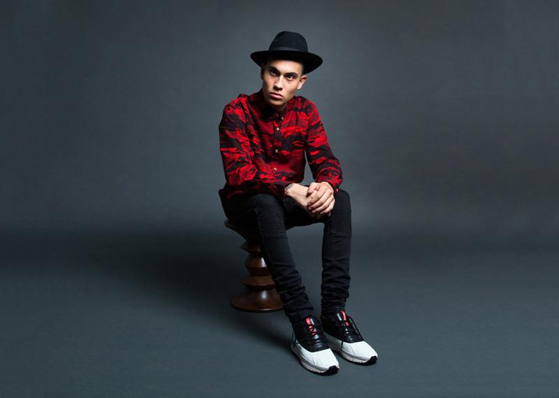 Black Scale – maskáčová košile s dlouhým rukávem, červená, pánská | Pánské značkové oblečení
