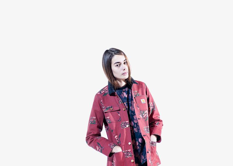 Carhartt WIP – dámská podzimní červená bunda bez kapuce | Dámské značkové podzimní/zimní oblečení