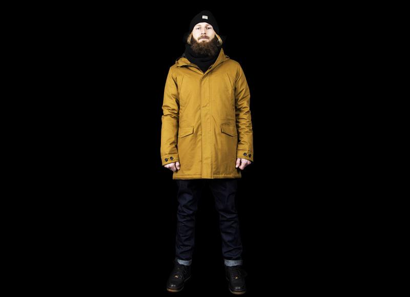 RVLT (Revolution) – pánská žlutá zimní bunda s kapucí | Pánské značkové oblečení, móda