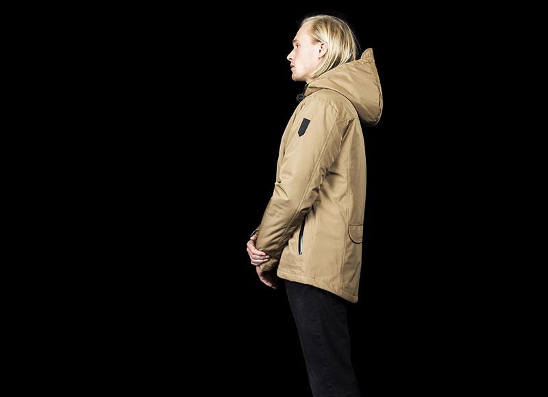 RVLT (Revolution) – zimní bunda s kapucí, béžová, pánská | Pánské značkové oblečení, móda