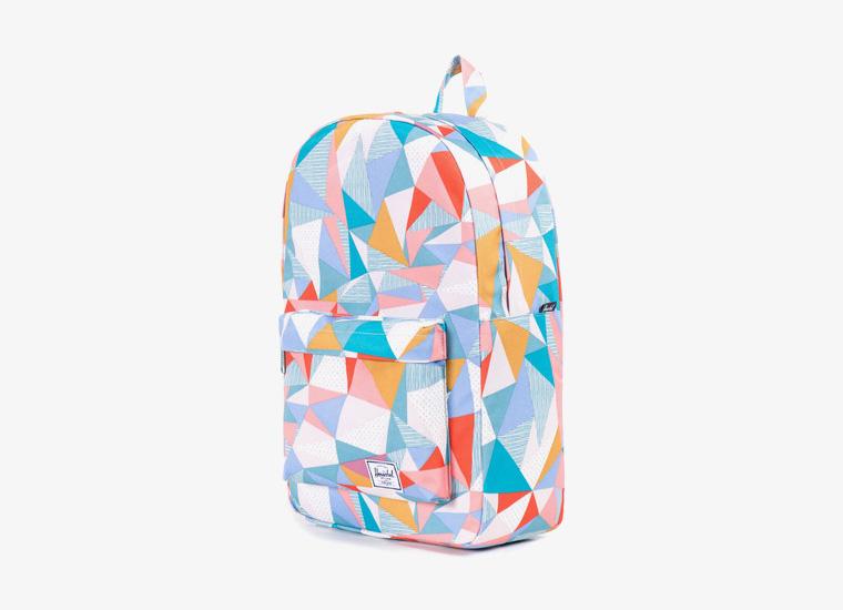 Batohy Herschel Supply – Classic Backpack – Mid Volume, barevný vzor, zelený | Stylové trendy batohy