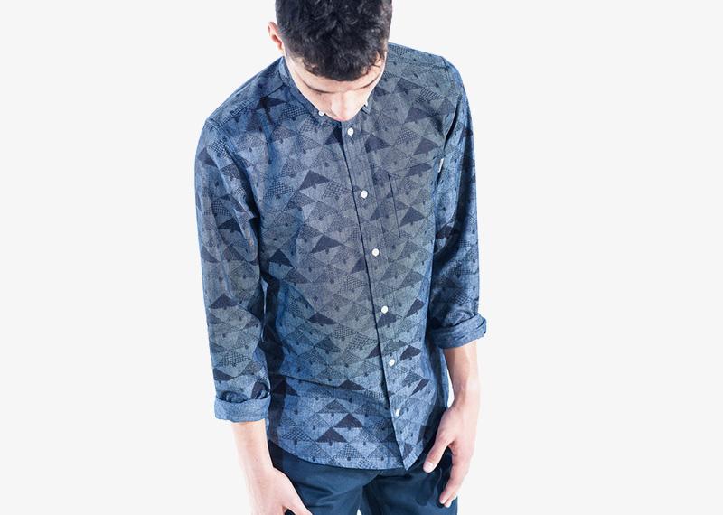 Carhartt WIP – modrá košile s dlouhým rukávem, se vzorem | Pánské značkové podzimní/zimní oblečení