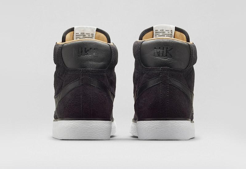 Nike Blazer Mid – kotníkové zimní boty, černé, semišové | Pánské a dámské zimní boty