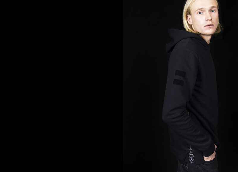 RVLT (Revolution) – mikina s kapucí, černá, pánská | Pánské značkové oblečení, móda