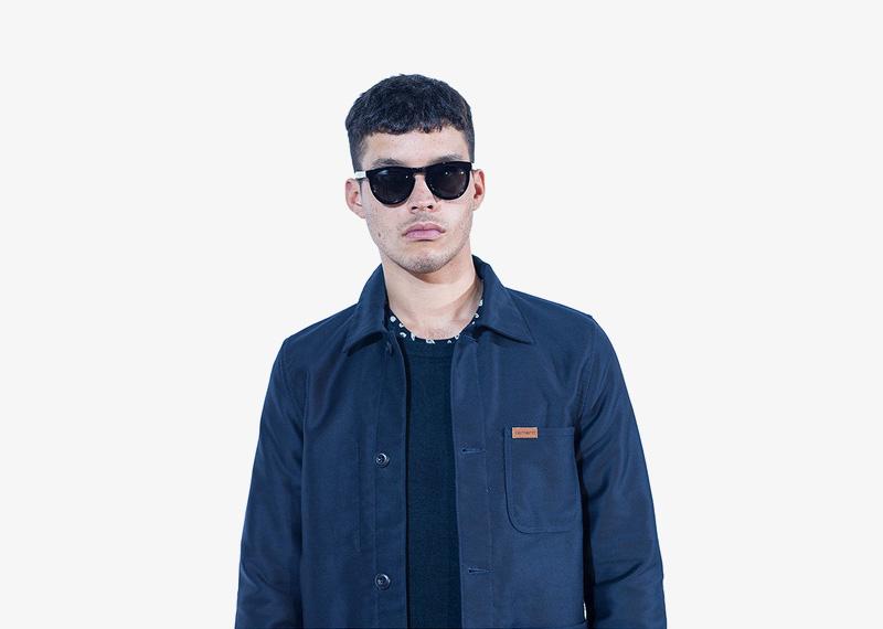 Carhartt WIP – modrá podzimní bunda bez kapuce, pánská | Pánské značkové podzimní/zimní oblečení