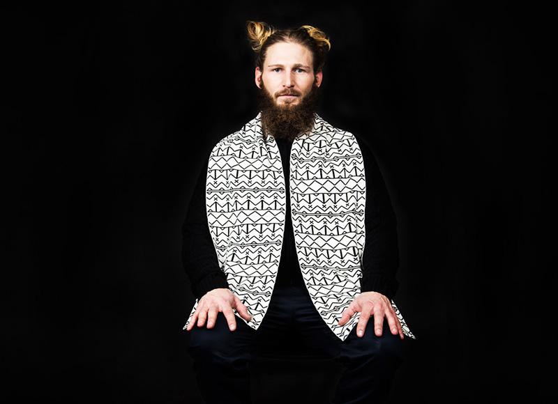 RVLT (Revolution) – bílý šáte, černý vzor | Pánské značkové oblečení, móda